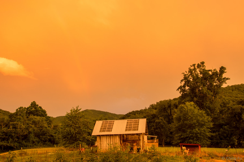 Sunset at Whistlepig Farm.
