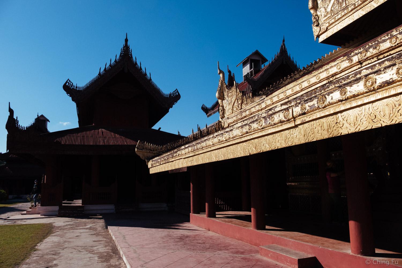 Inside Mandalay Palace.
