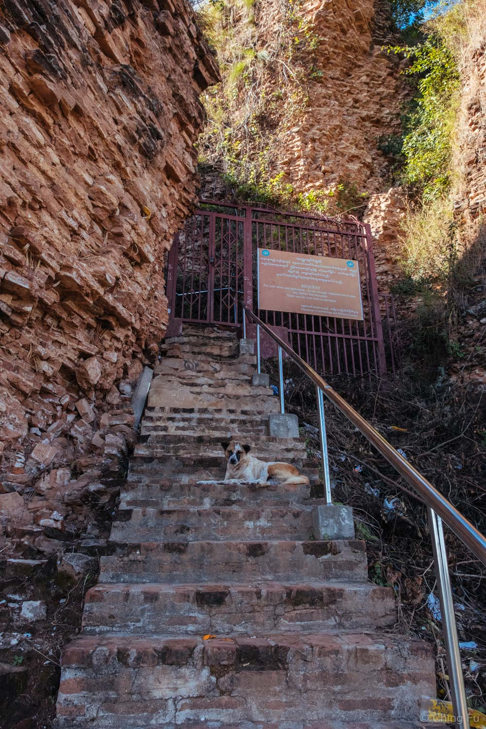 Stairs to the top of Mingun Pahtodawgyi.