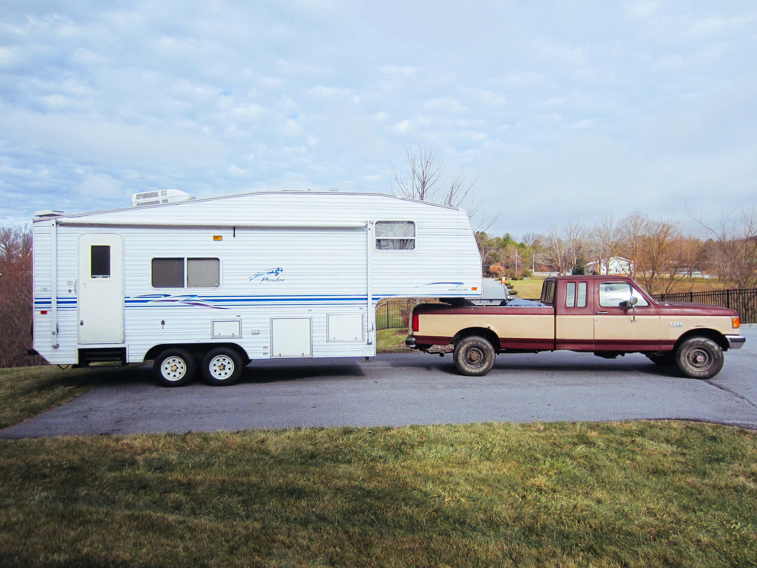 Meet the Fleetwood Prowler. This was the original truck we hit the road with.