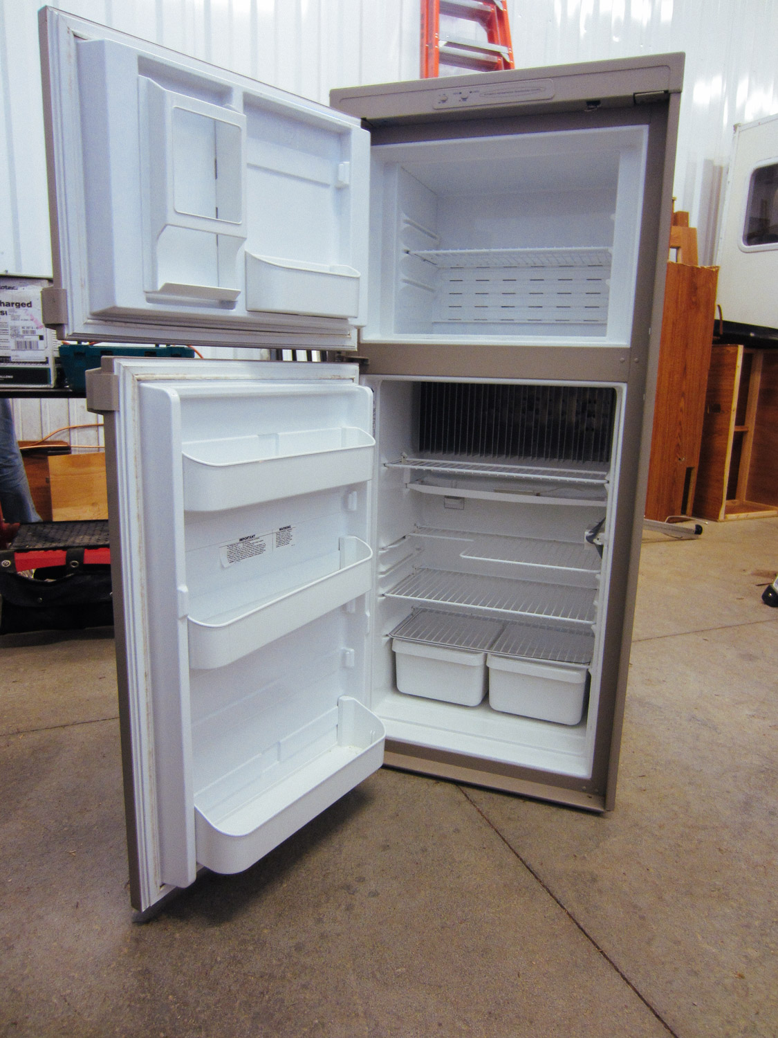 We were able to sell the majority of the original appliances we removed from the rig: fridge, furnace, toilet, awning hardware, black tank, etc.