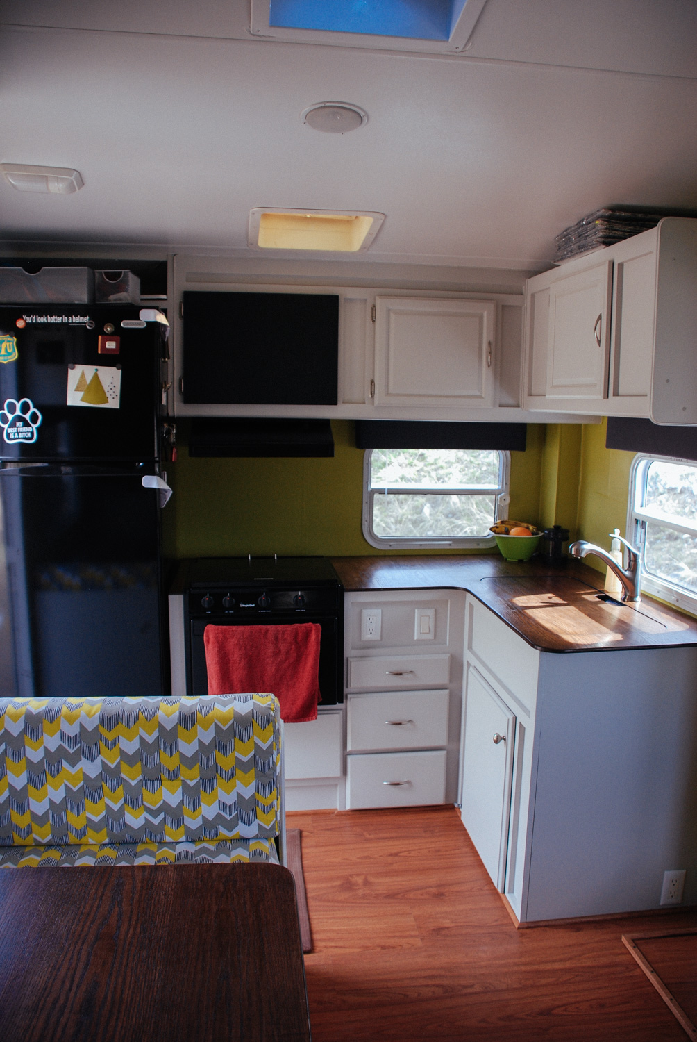 This is what our finished kitchen looked like when we first hit the road.