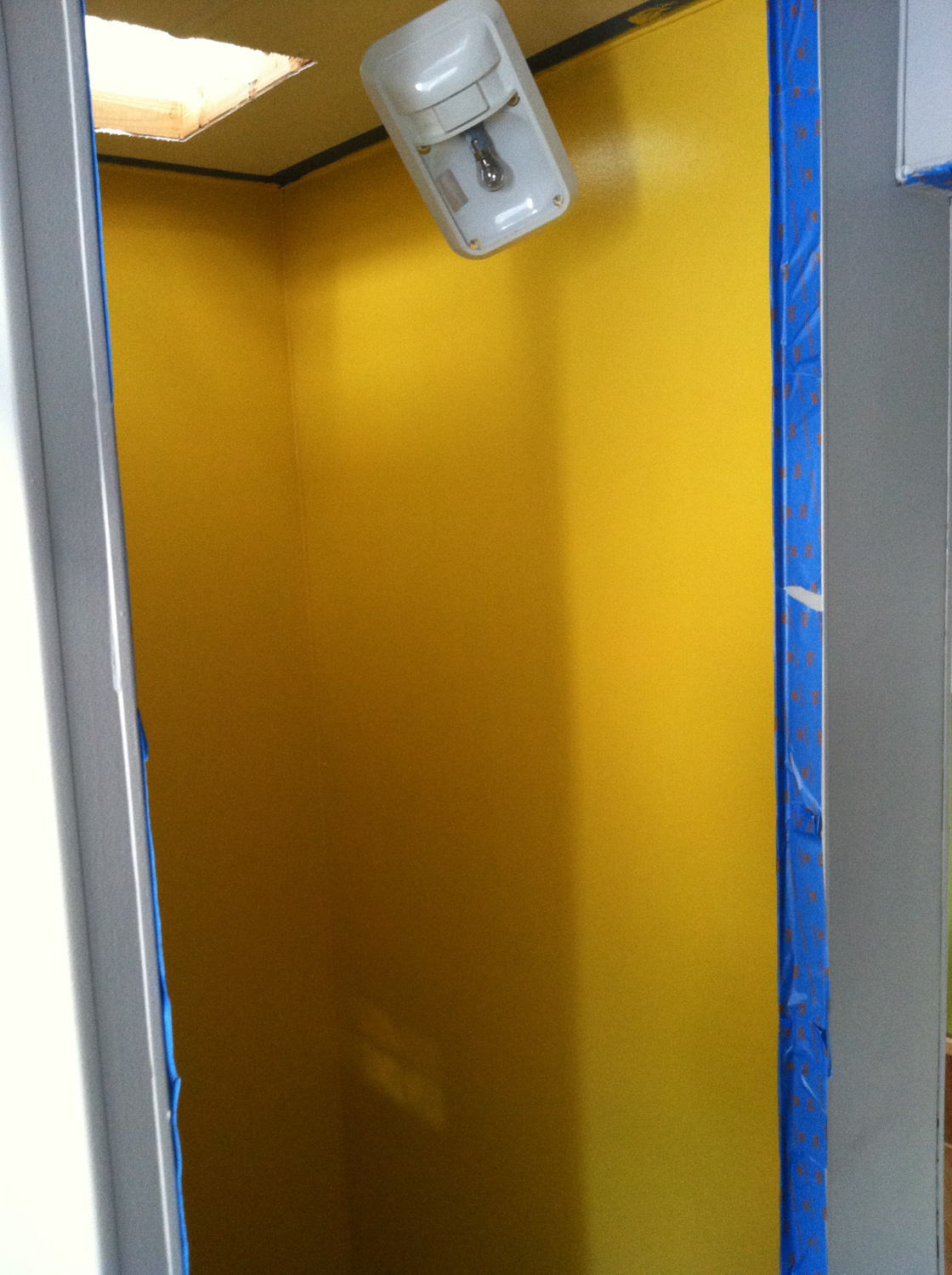 I had the brilliant idea to paint the bathroom yellow. It turned out terrible. The color so was blindingly bright it caused immediate headaches.