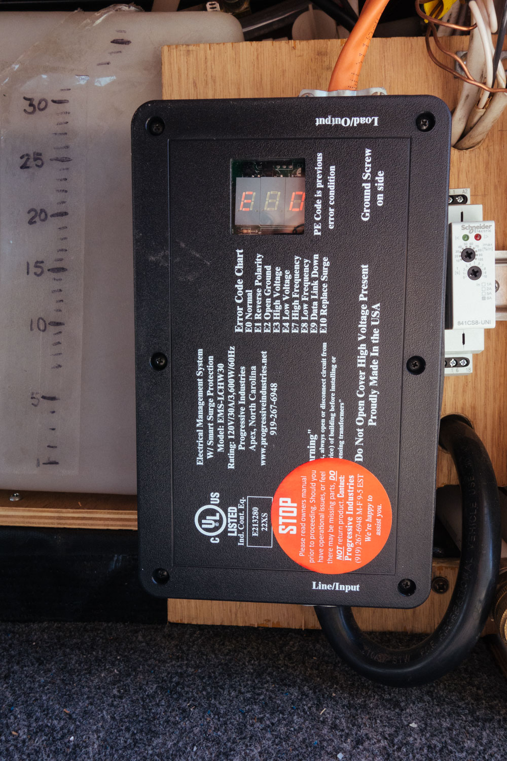 This is our shore power hardwired surge protector.