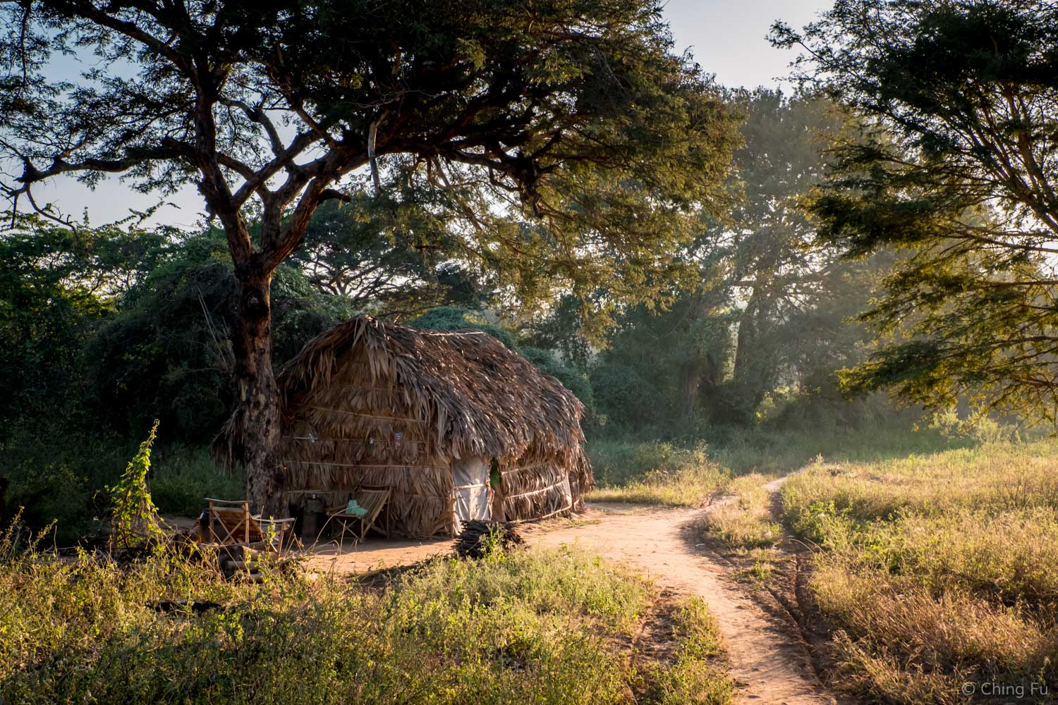 Local villager's home in Bagan.