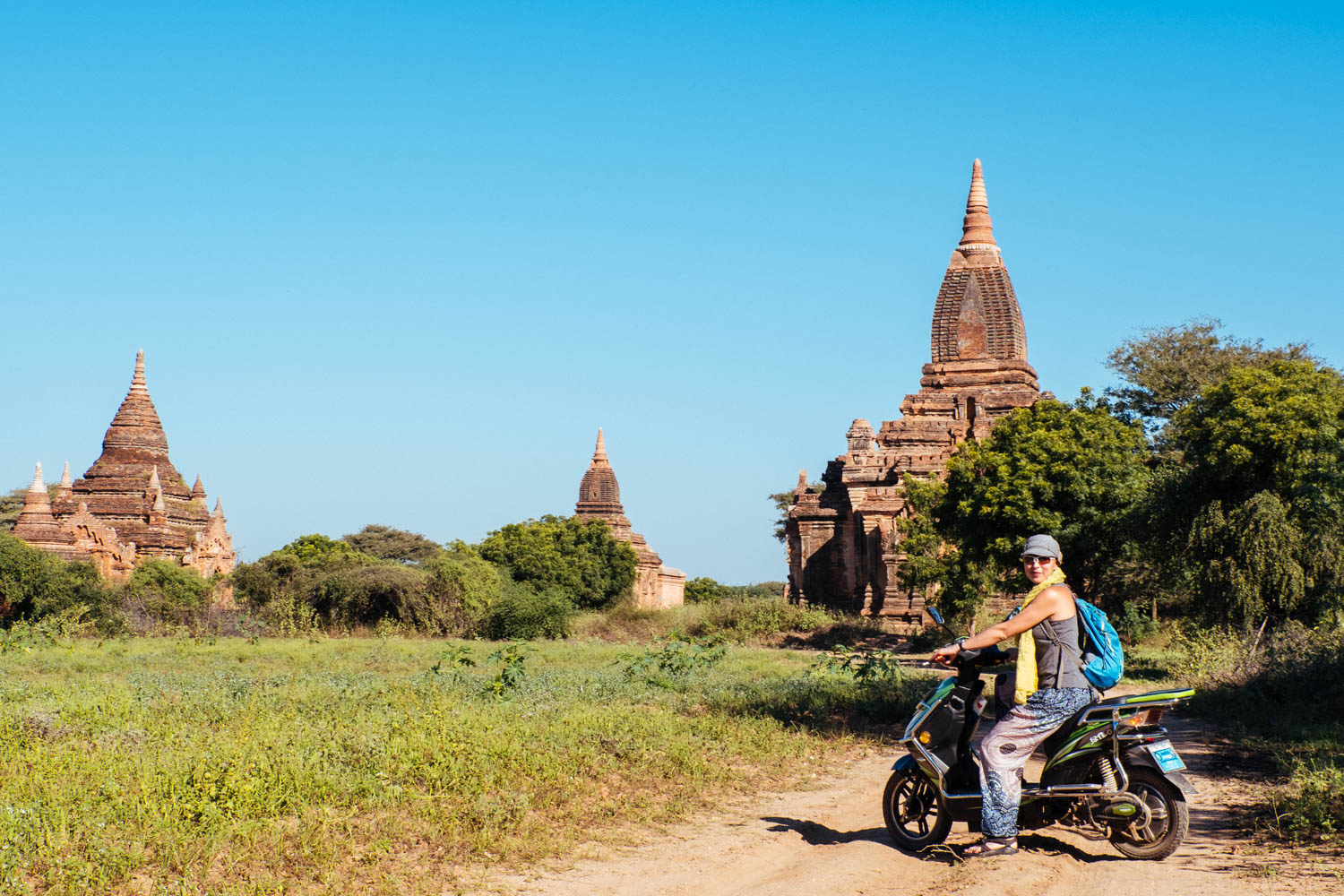 These scooters provided so much freedom to our Bagan experience. Even though these comfortable pants were sold everywhere, I never saw a single local person wear them.