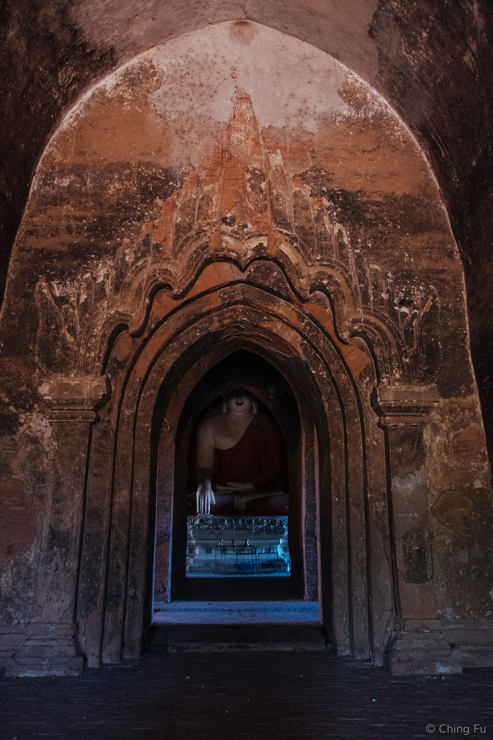 Original frescos in the temples. Some of these artwork covered the entrances.