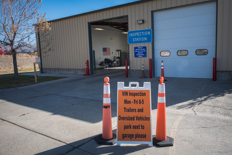 Nevada DMV VIN inspection station