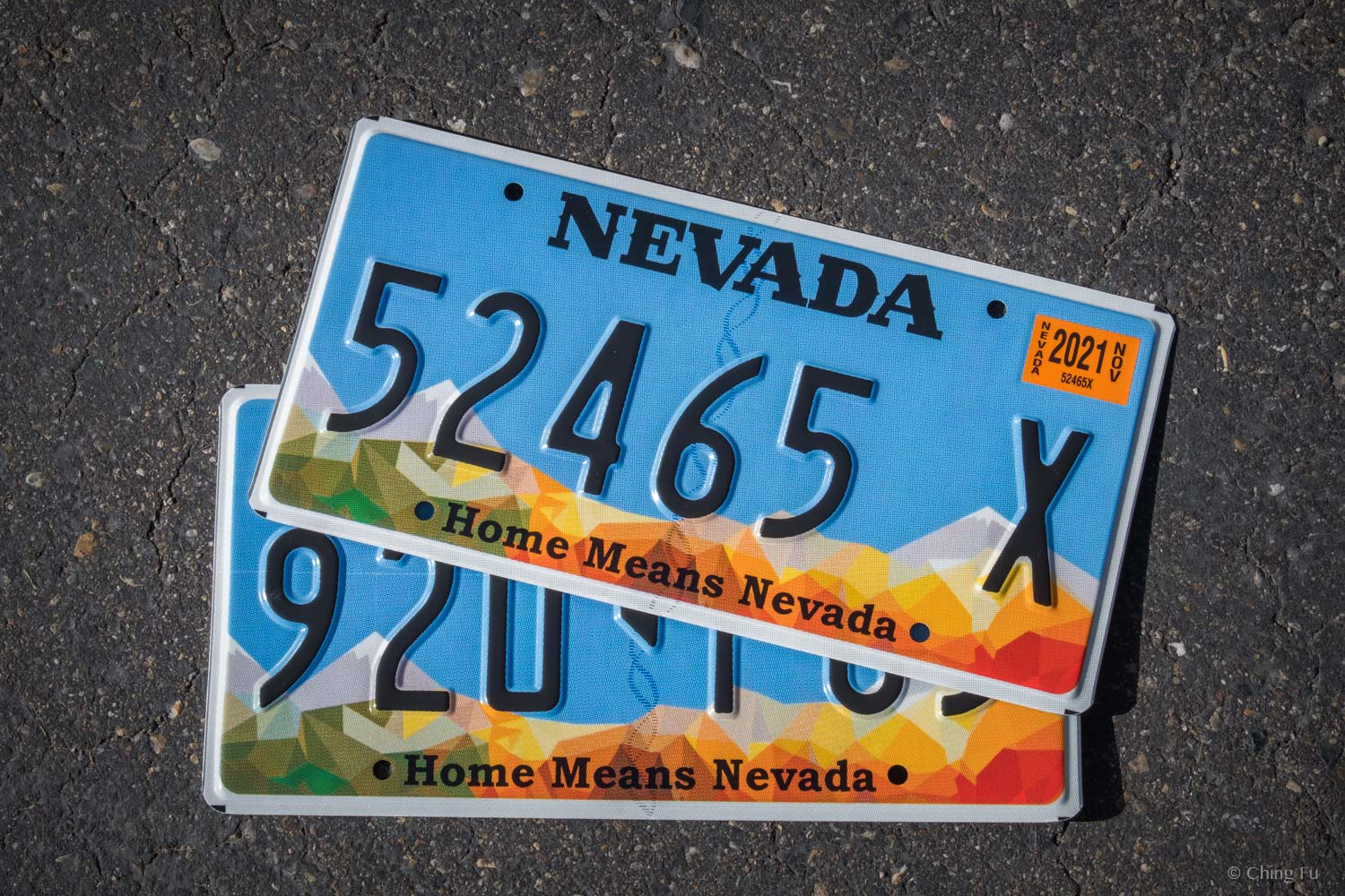 Our Nevada license plates.