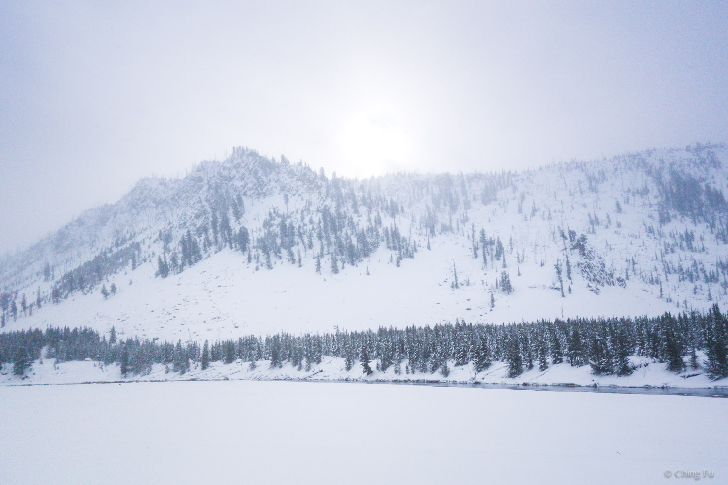 West Yellowstone National Park in the winter.