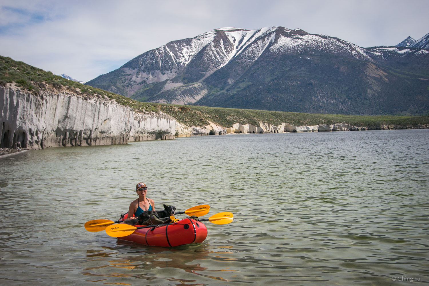 Paddling on Crowley Lake.