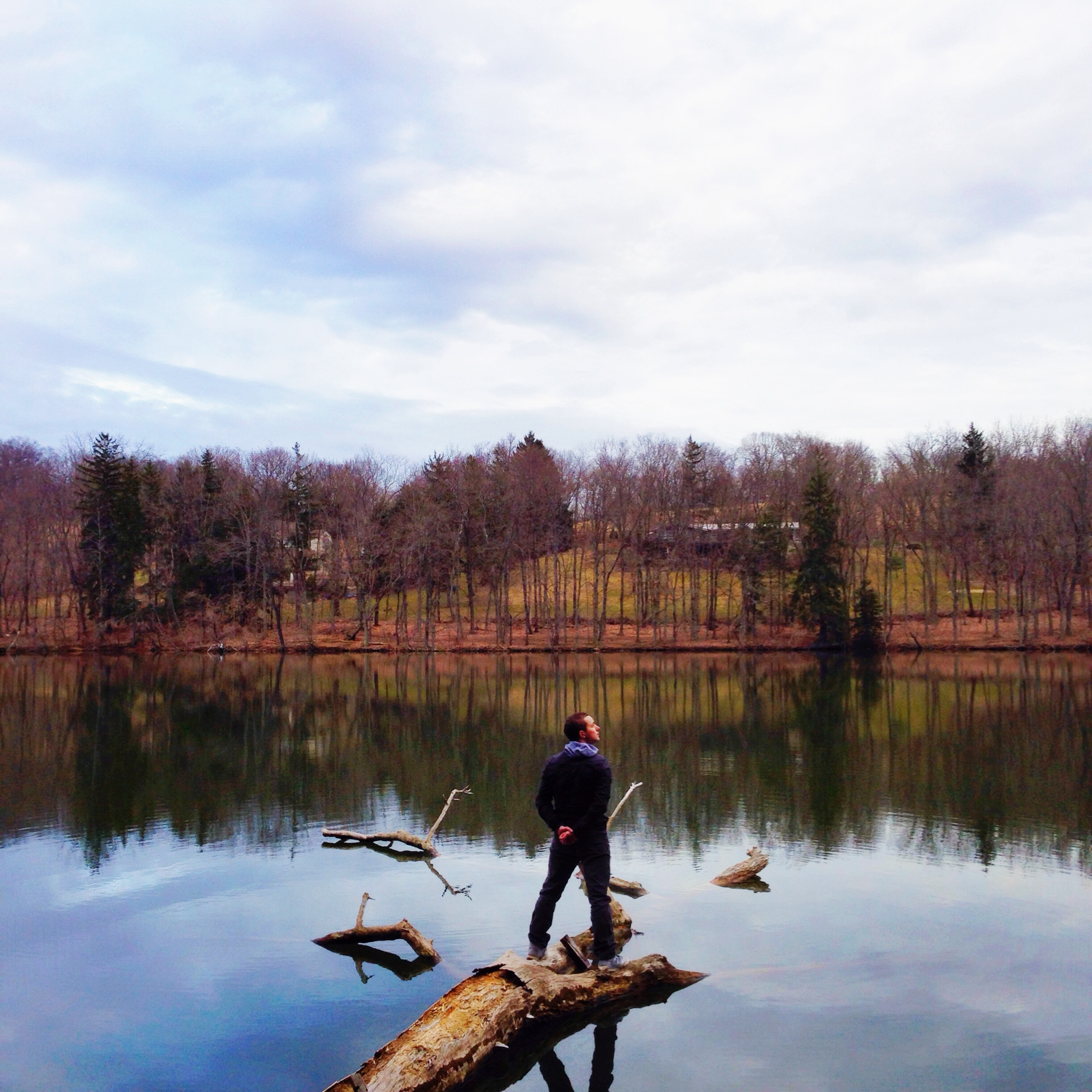 A #wicked_reflection featuring the creator of the hashtag himself, this time at Peters Lake Park