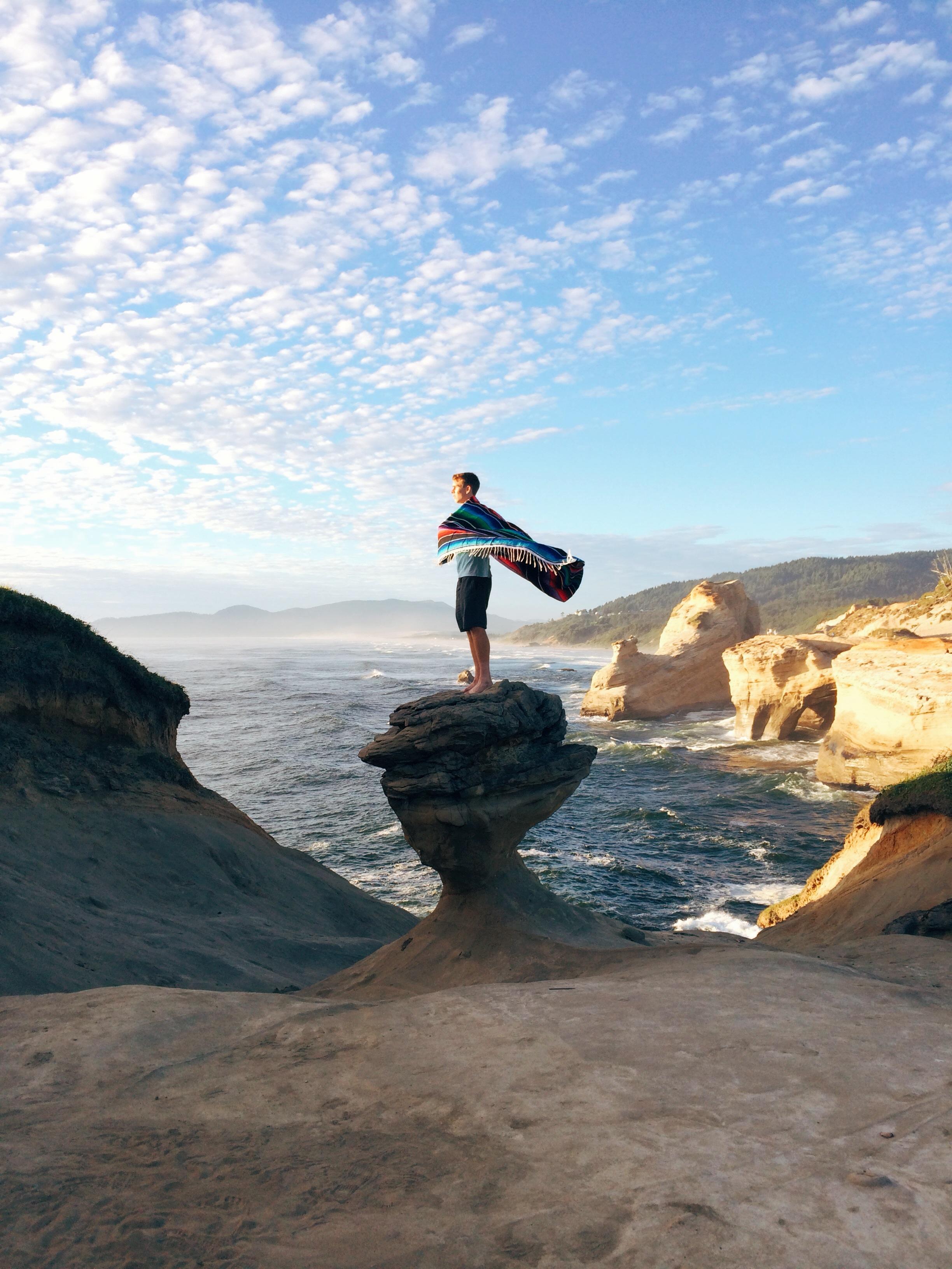 Me on the Cape Kiwanda rock taken by Nathaniel