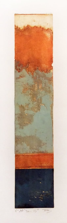 Baranco 13, 2014, color etching, etat 4, 20 x 6.25 inches