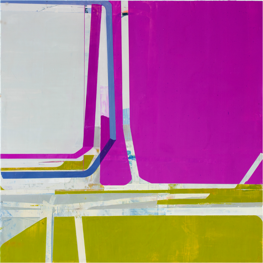 Many Happy Returns, 2013, oil on panel, 36 x 36 inches