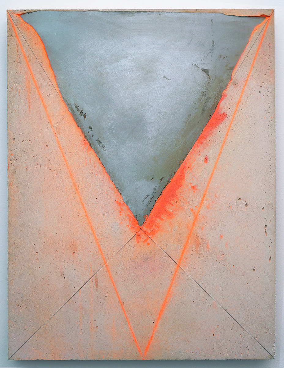 Canyon in Vivid, 2015, steel and chalk on concrete, 24 x 18 inches