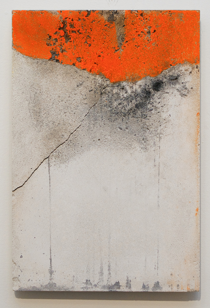 Tender Eddy, 2014, chalk and charcoal on concrete, 18 x 12 inches