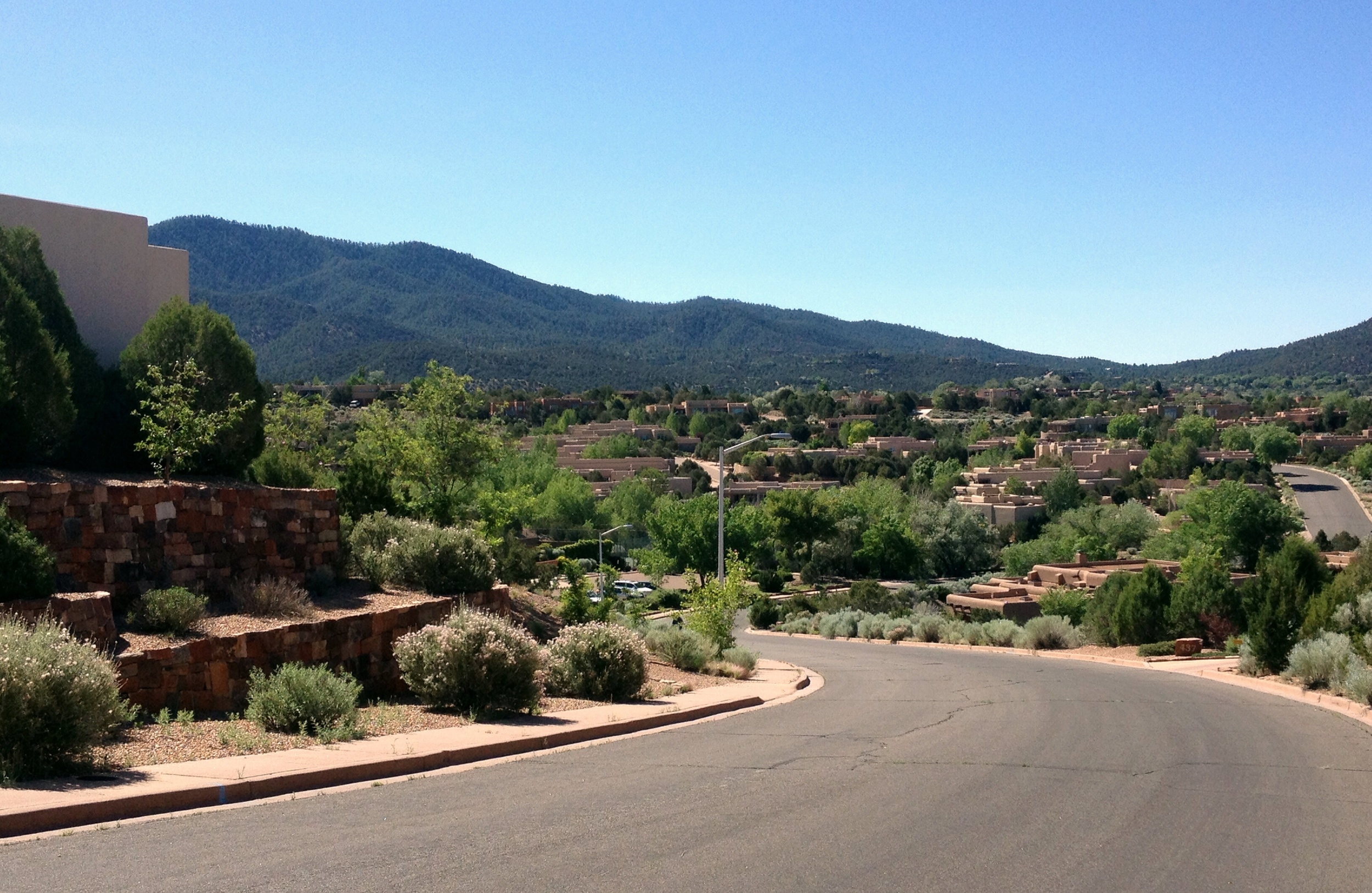 This was taken in a neighborhood on the way to the Santa Fe ski area.