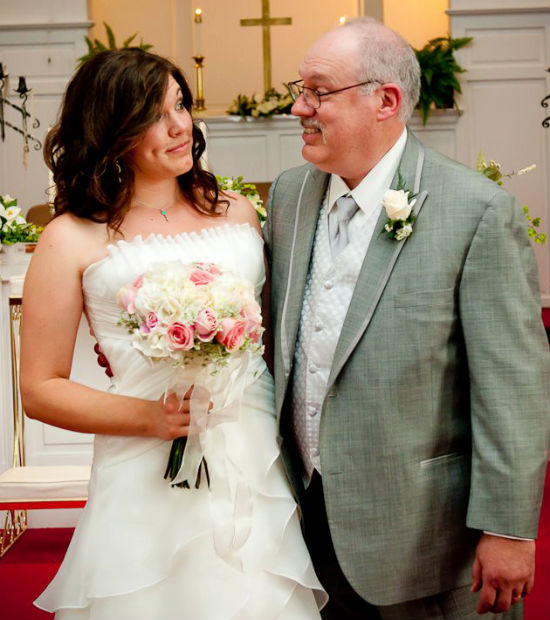 Dad and me on my wedding day.