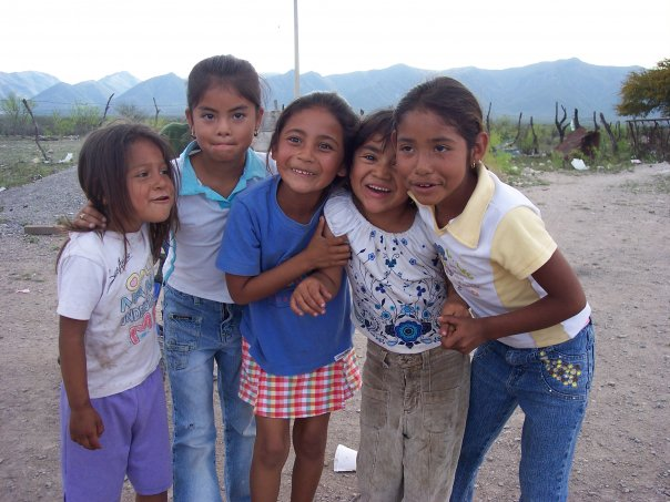 Young girls in a village near Musquiz, Mexico