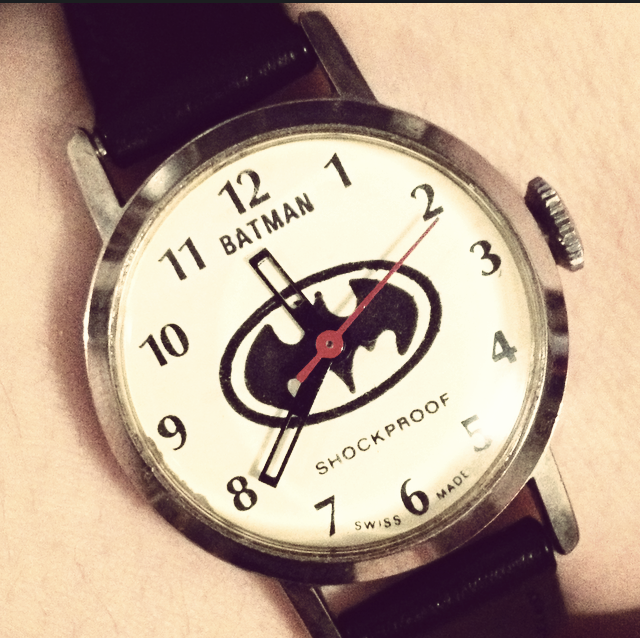I picked up this awesome quality McDonalds Batman wind watch from 1980. Why does it exist? I do not know. But it is now mine. I had the crystal and band replaced and it's in perfect working order now!