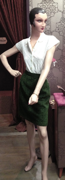 Marta looking fresh in  stylish, crisp green & white.