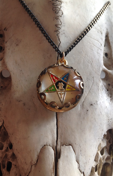 This awesome Order of the Eastern Star pendant is both unique and double sided! (the same design on both sides)