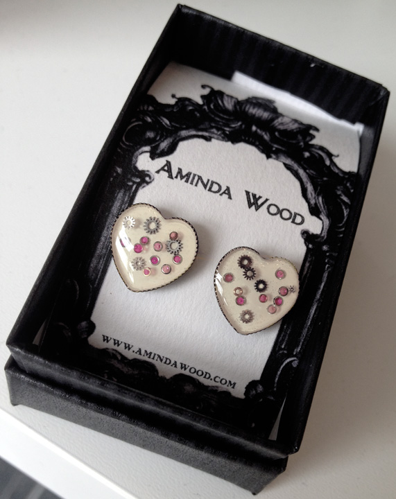 These are the very first white Mechanical Heart earrings!