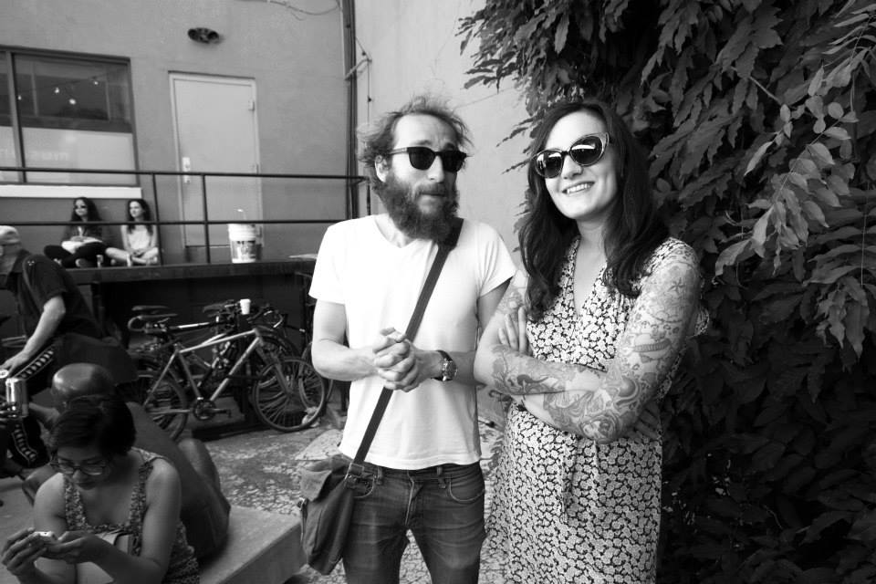 Comedian  David Heti  & I enjoying  Young Mother  at Edward Day. Shot by Ivy Lovell.