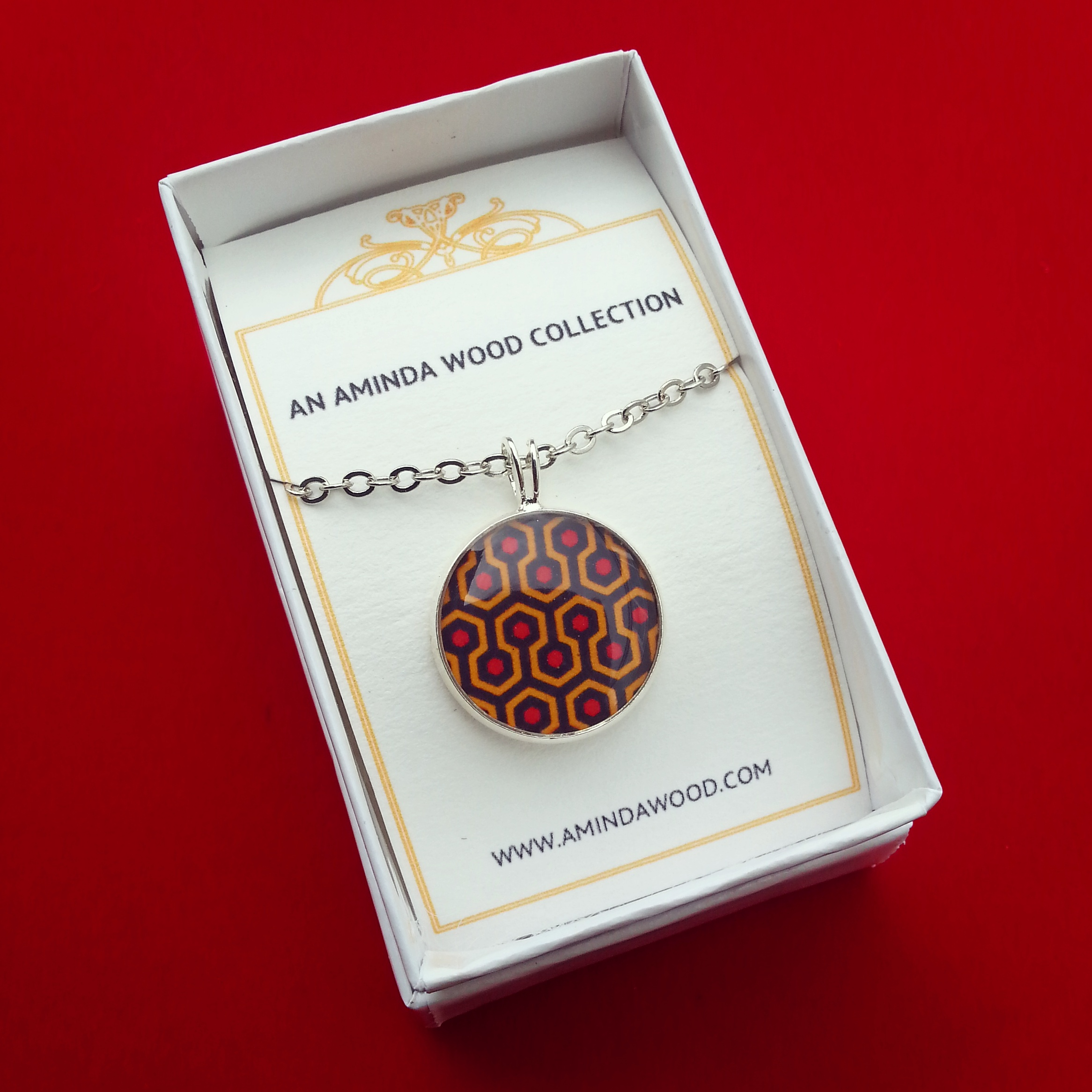 The Shining Carpet Pendant - resin cast