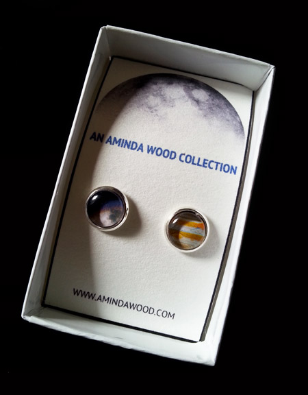 Moon and Jupiter Mission Stud Earrings