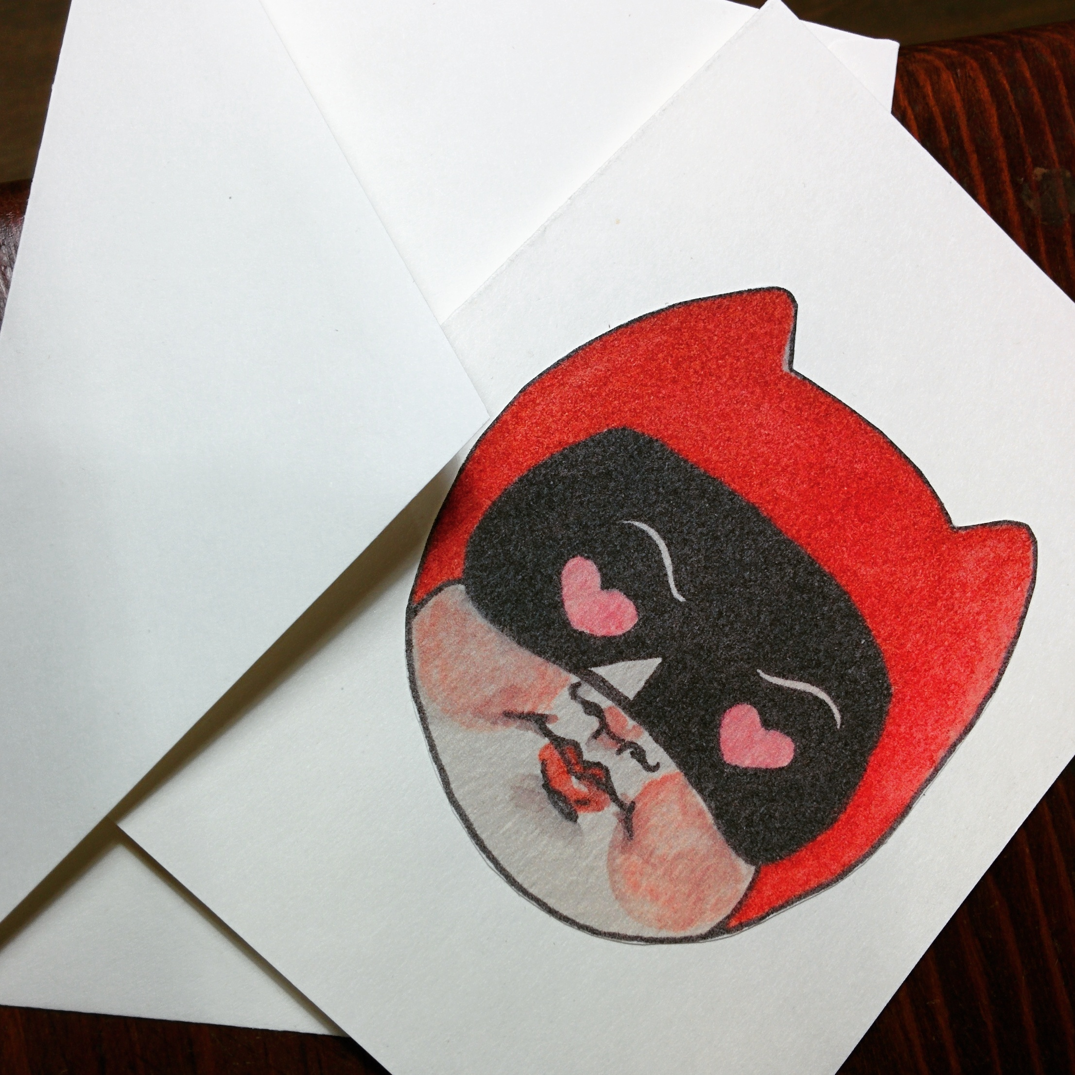 I have a very limited selection of cards made from my illustrations!