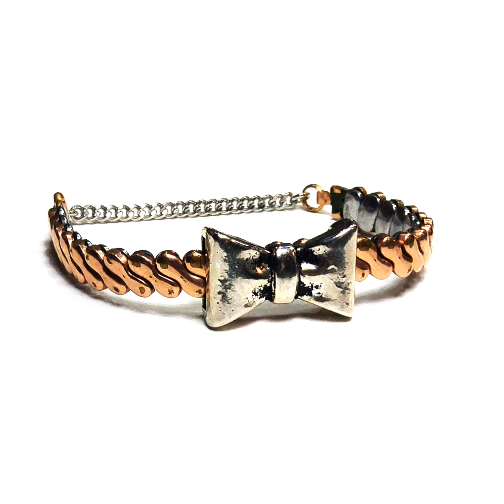 Easy to wear, easy to put on - bracelets made using expandable vintage watch bands are unique, cute and time saving