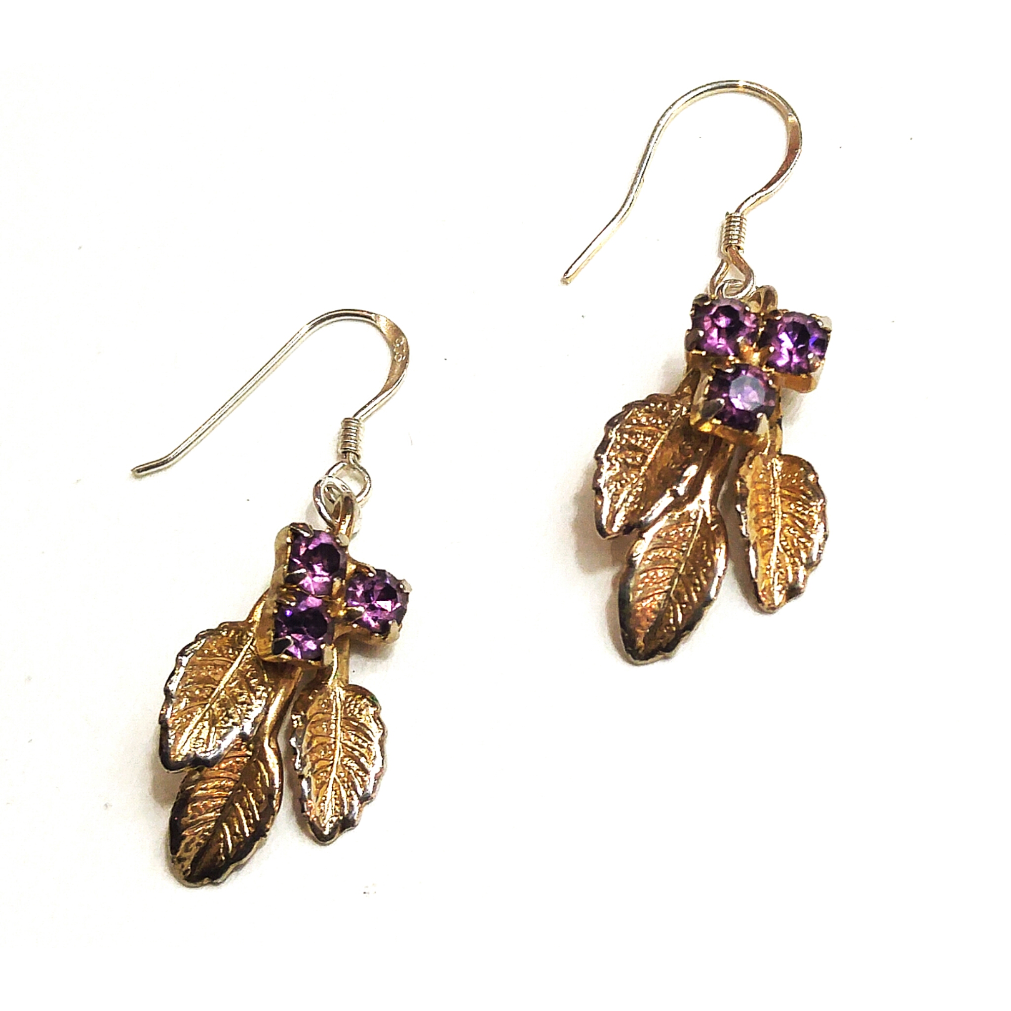 vintage screwbacks updated to sterling silver posts make these earrings one of a kind!