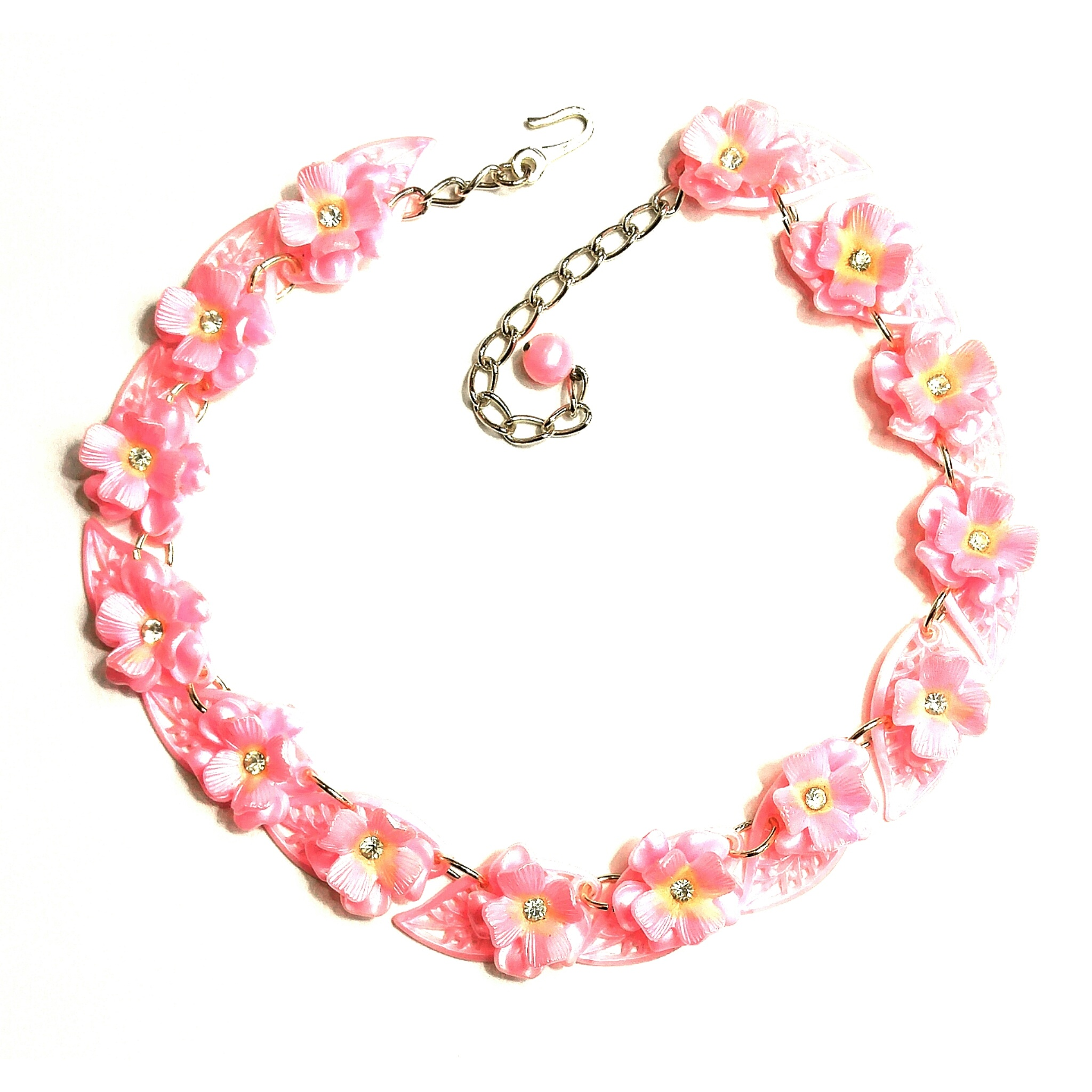 Retro plastic necklace, made in Germany