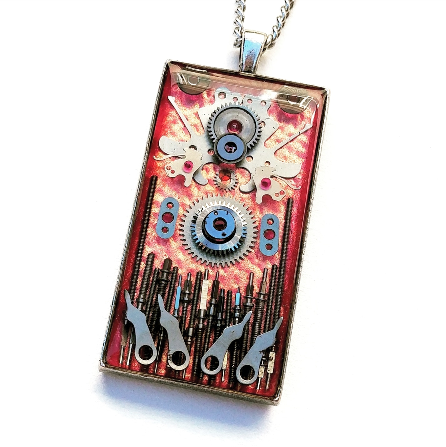 """2 1/4"""" multi layer rectangular pendant, available at Made You Look Jewellery"""