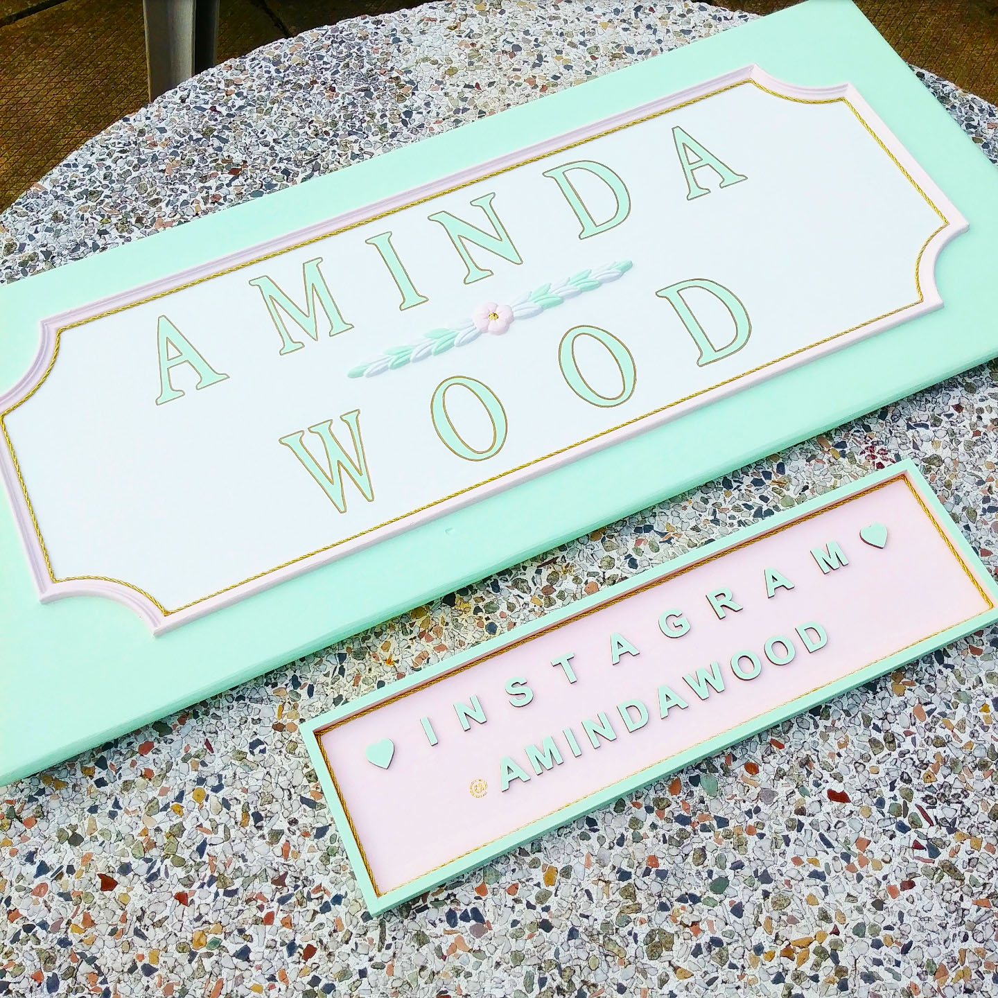 Look for my new hand painted sign next time you visit my shop!