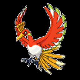 Ho-oh, a fire type