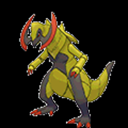 Haxorus, dragon type