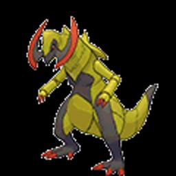 Haxorus, dragon type