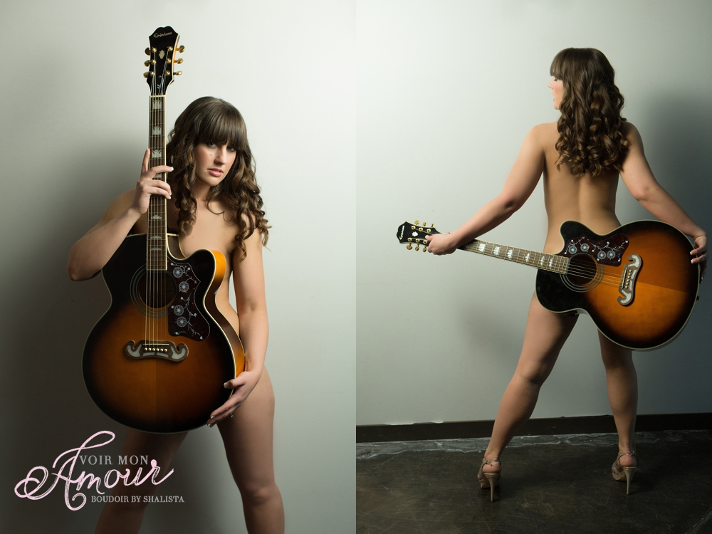 Boudoir poses with guitar