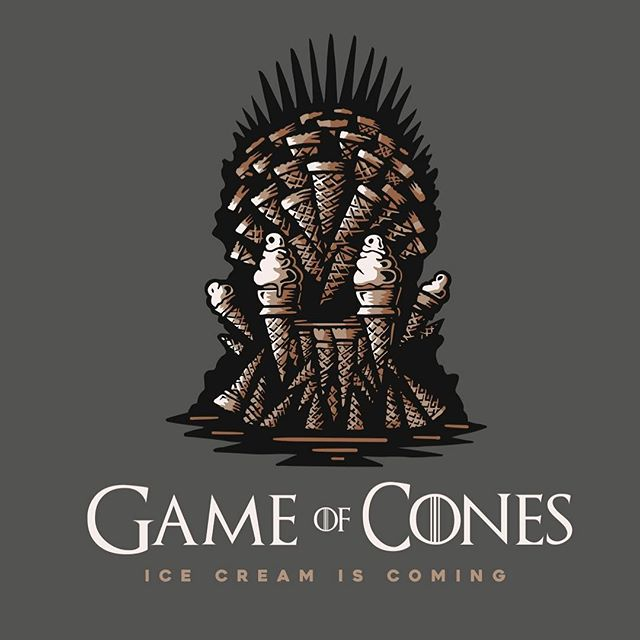 Winter is here. In honor of one of our favorite shows we're bringing you Fire and Ice (cream). To celebrate the new season of GOT we will be collabing with the honorable chefs over at @worthtakeaway to bring you Game of Cones. This pop-up will take place in front of Worth in Mesa on April 13th, just in time to help celebrate the start of the new season. This celebration with be complete with custom ice cream flavors, GOC shirts and stickers and maybe even a Khaleesi or Dragon if you promise to come and bend the knee.  Stay tuned for more info, if Facebook or Instagram has another blackout, we'll send ravens. #gameofthrones #collaboration