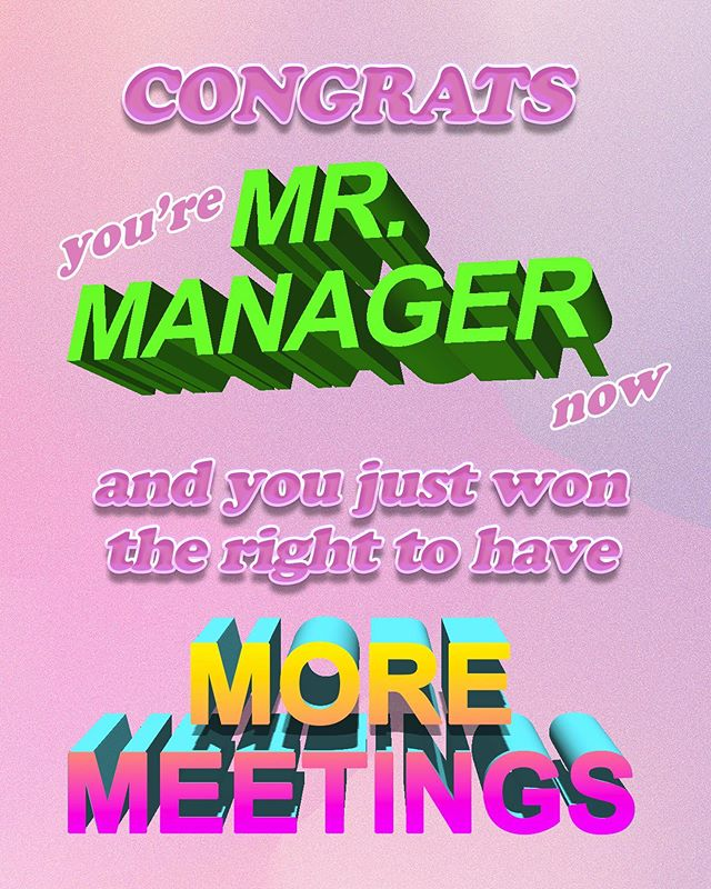 i'm not a manager but i know a lot of managers so i feel qualified to make this #art #statement