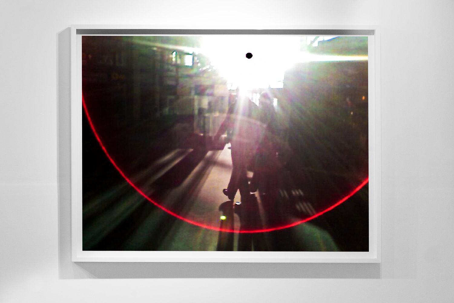 'Black Sun 0009,'48 x 64 inch,c-prints on diasec in wood frame, Black Sun Project, at Bas Fisher Invitational, 2008.