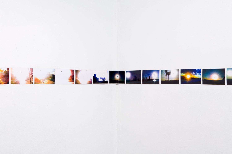 'Infinite Black Suns' (detail, corner 2),104, 4 x 6 inch c-prints,Black Sun Project, at Bas Fisher Invitational,2008.