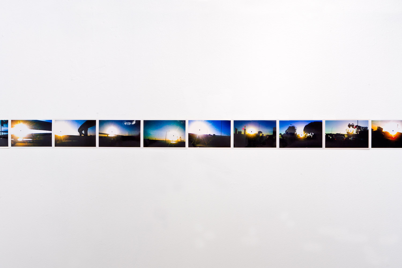 'Infinite Black Suns' (detail),104, 4 x 6 inch c-prints,Black Sun Project, at Bas Fisher Invitational,2008.