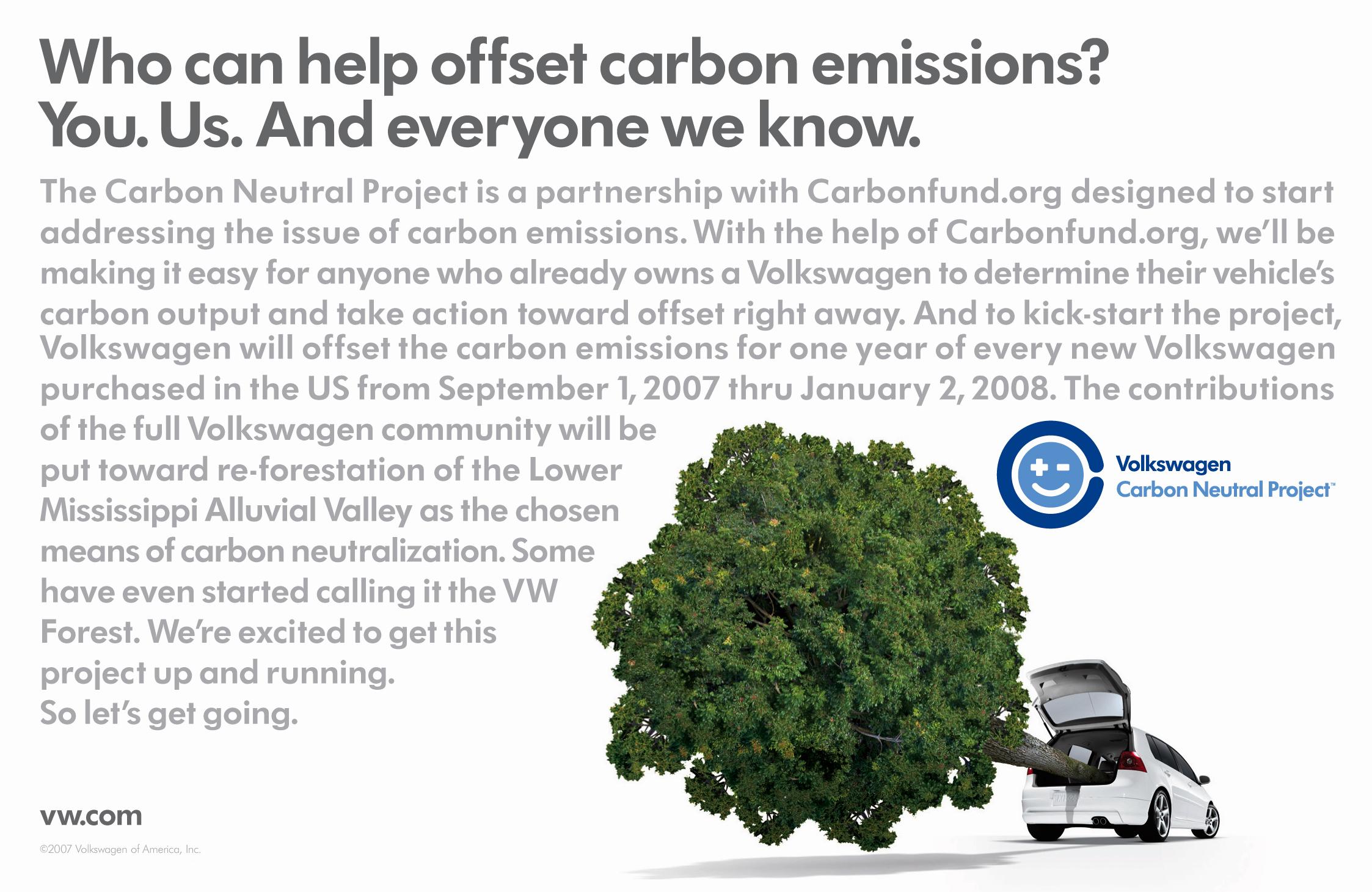 VW carbon neutral project