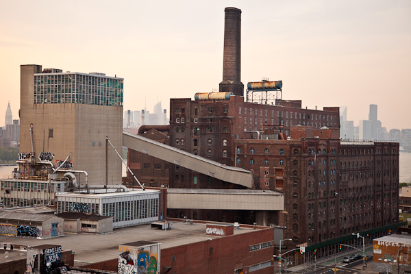 Domino factory from on the Williamsburg Bridge. This picture was used in The L Magazine's print article. ©2010 harlan erskine