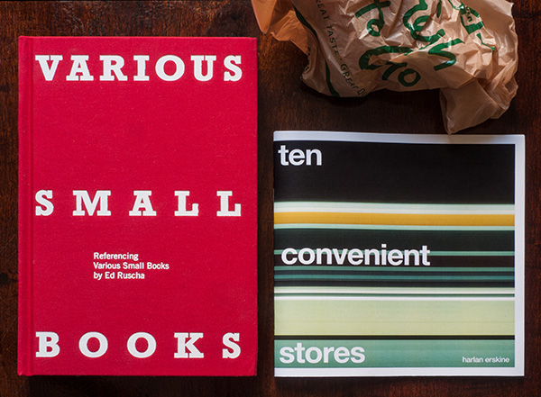 VARIOUS SMALL BOOKS Referencing Various Small Books by Ed Ruscha & ten convenient stores