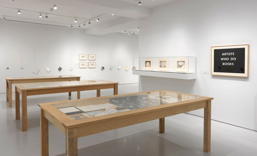 """""""ED RUSCHA Books & Co."""" Installation view Photo by Rob McKeever"""